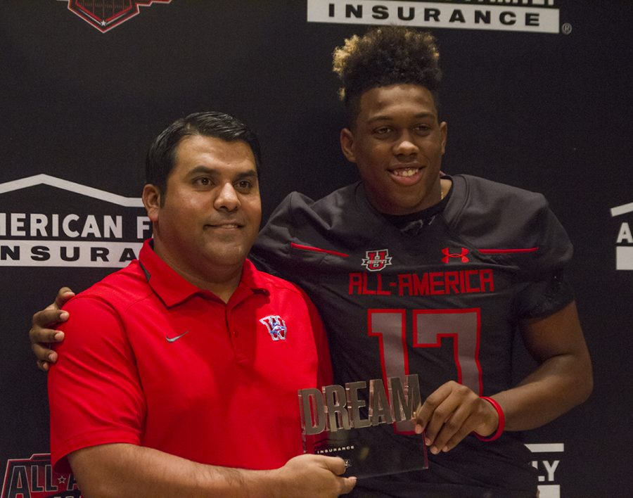 Levi Jones accepted to Under Armour football team photo gallery