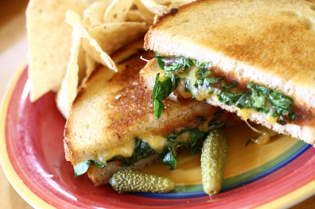 One of the classic sandwiches at Bouldin Creek Cafe is the grilled cheese con hierbas.