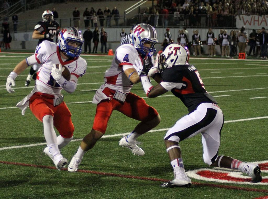 Lake Travis and Westlake met Nov. 1st. Lake Travis took the win with 27-28.