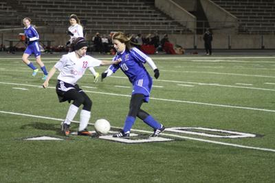 Senior Rachel Coyle playing against Bowie.