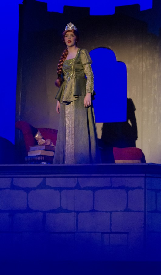 Junior Taylor Thomas performs as Fiona in Shrek The Musical.