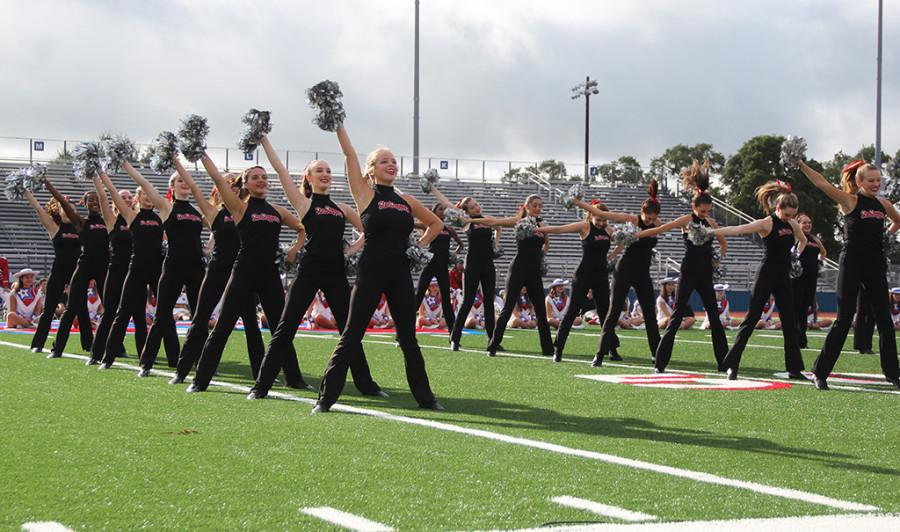 The Star Steppers perform their dance routine at the homecoming pep rally on Sept. 18.