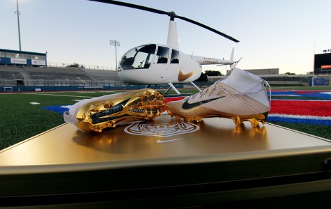Football team receives cleats from Nike, gifts to less privileged school