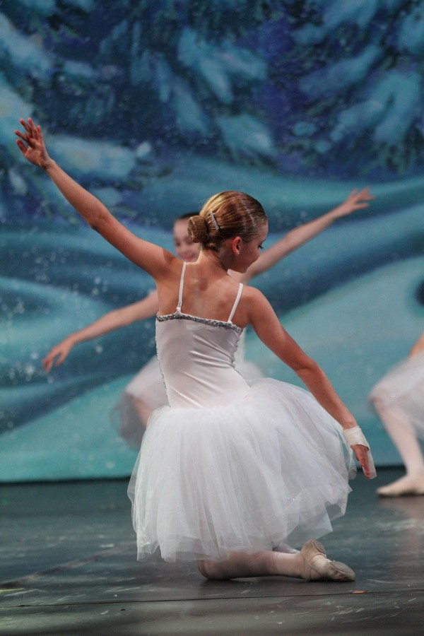 Dancers from Alisa's Dance Academy practice during the rehearsal for the Nutcracker Spectacular on Tues. Dec. 10.
