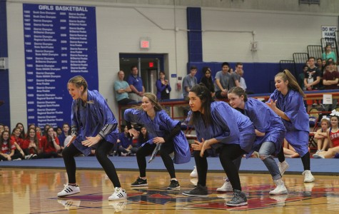 On March 4, during the Spring Pep Ralley, Hyline made up of senior Maddie Noteboom and company, perform a jazz routine.