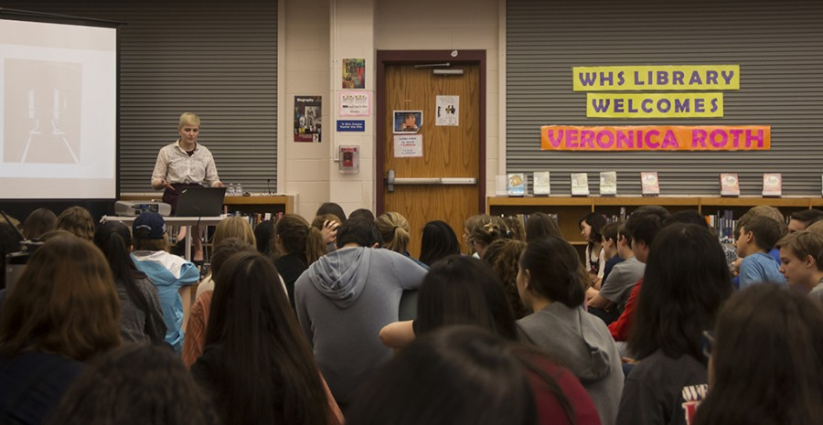 Author of the Divergent series, Veronica Roth spoke to students about her experiences as an author.