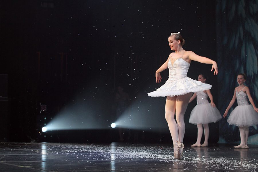 During+the+Westlake+performance+of+Nutcracker%2C+a+dancer+is+en+pointe.