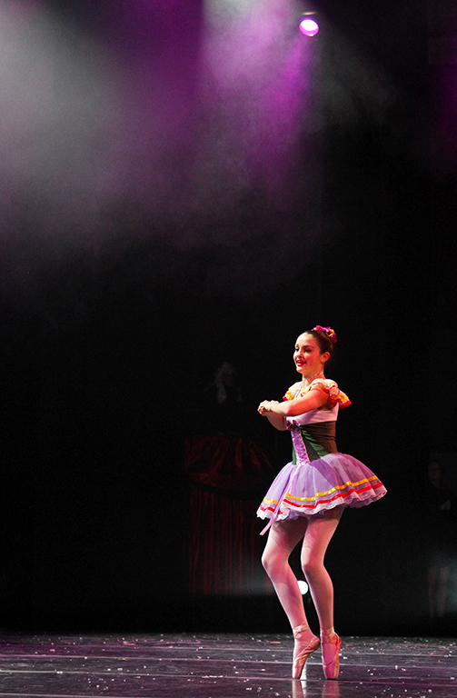 Westlake freshman Margaret Morris twirls on stage during the performance of the Nutcracker Spectacular. The show is put together by Alisa's Dance Academy and the Westlake High School tech crew.