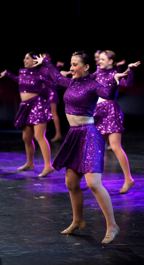 Senior Dana Nuckolls dances to