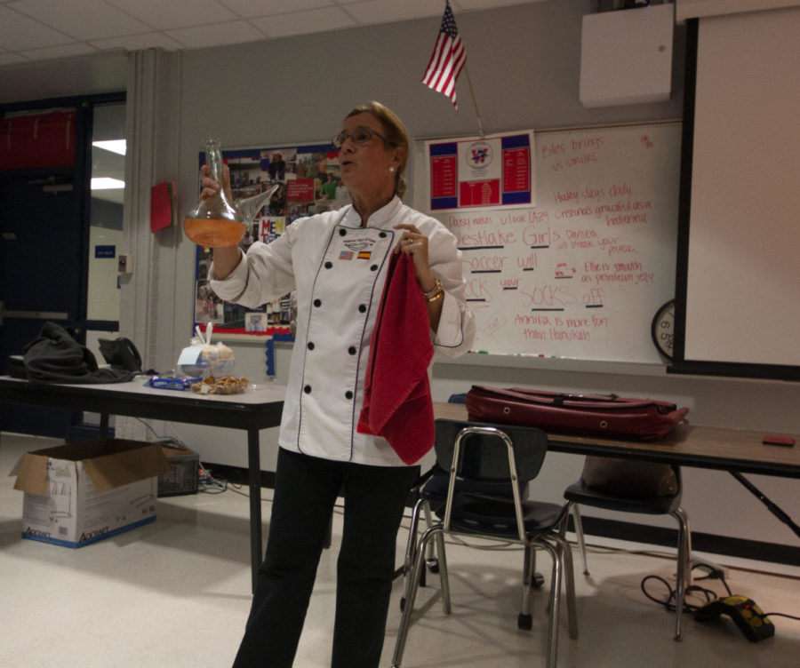 On Nov. 27, Spanish Club brought in a guest chef to talk about spanish food and culture. She and her asssistant brought paella and virgin sangira.
