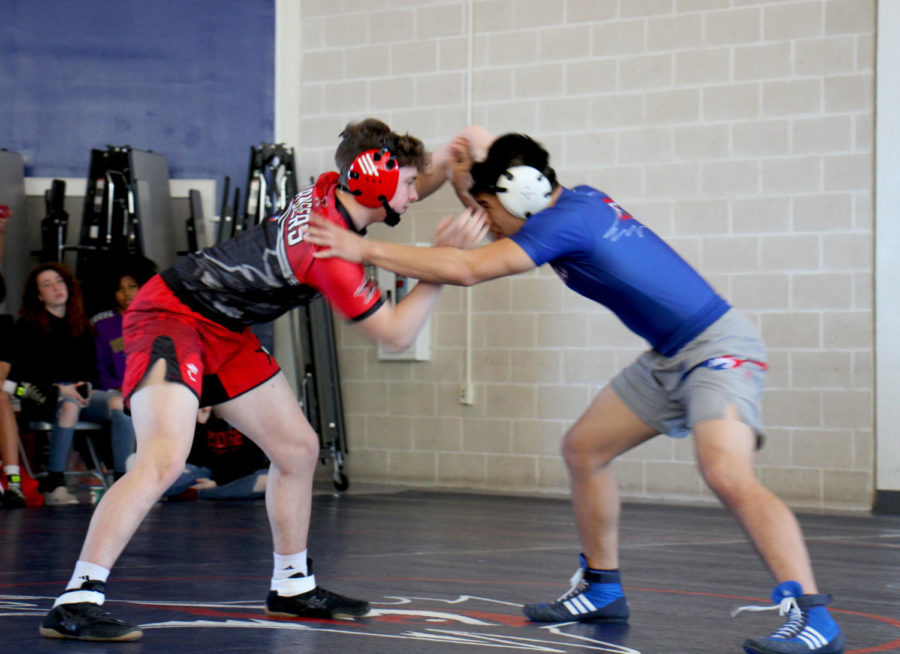 Justin Wong faces off aganist his oppent for the Paralyopmics fundrasier. They were able to collect $300.