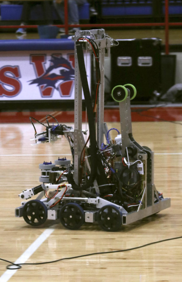 The robotics team demostrated their robot, Sophie and the tricks it can preform.