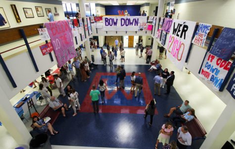 Westlake parents explore the Commons during Back to School Night on Sept. 4.