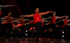 Hyline dancers preform a turn sequence during their jazz number called