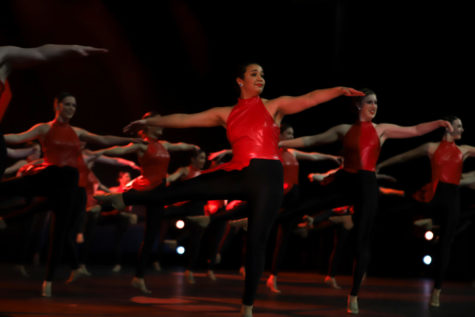 "Hyline dancers preform a turn sequence during their jazz number called ""Turn It Up"" at Spotlight."