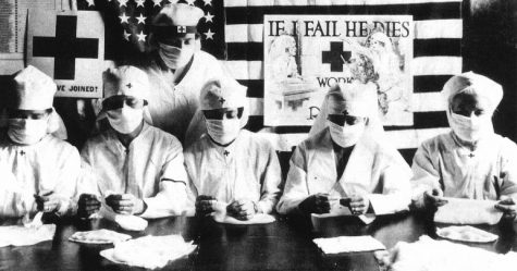 Red Cross volunteers in the United States fighting against global pandemic in 1918.