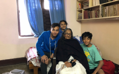 Mehuli poses with her Thamma and siblings